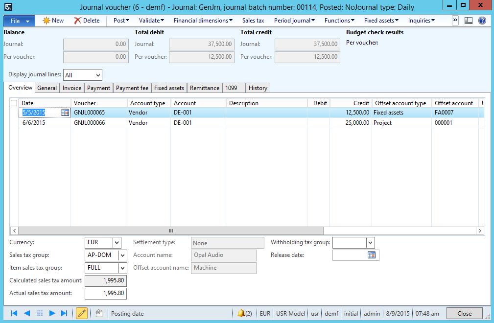 Excel add-in | Dynamics 365FO/AX Finance & Controlling